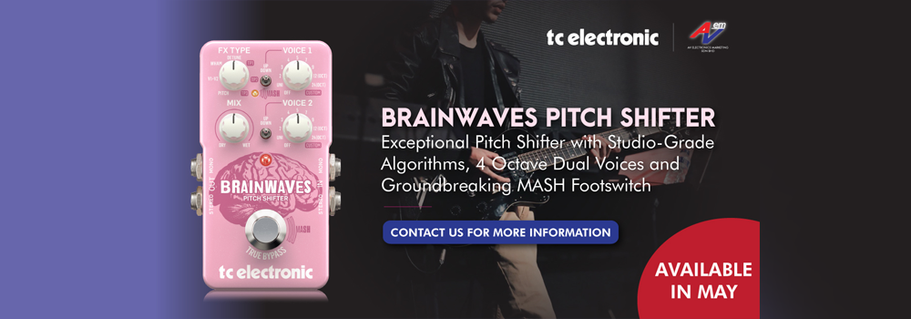 TC Electronic BRAINWAVES PITCH SHIFTER Exceptional Pitch Shifter With Studio-Grade Algorithms, 4 Octave Dual Voices And Groundbreaking MASH Footswitch
