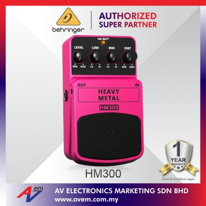BEHRINGER HEAVY METAL HM300 Heavy Metal Distortion Effects Pedal