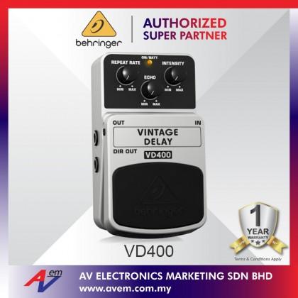 BEHRINGER VINTAGE DELAY VD400 Vintage Analog Delay Effects Pedal