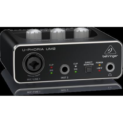 Behringer U-Phoria UM2 USB Audio Interface (UM-2 / UM 2)
