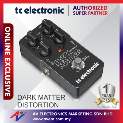 TC Electronic DARK MATTER DISTORTION Phenomenal Distortion Pedal with Extreme Dynamic Range, Two-Band EQ and Voicing Switch