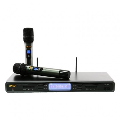 BMB PACKAGE CSD 10, BMB Karaoke System Package Consisting of DAR-350H Amplifier x 1 unit, CSD-880 Speakers x 1 pair, WB-5000S Wireless Microphone x 1 Set c/w 2nos Handheld Microphone