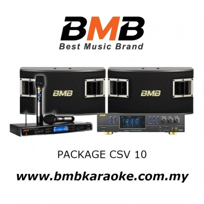 BMB PACKAGE CSV 10, BMB Karaoke System Package Consisting of DAR-350H Amplifier x 1 unit, CSV-450 Speakers x 1 pair, WB-5000S Wireless Microphone System x 1 Set c/w 2nos Handheld Microphone